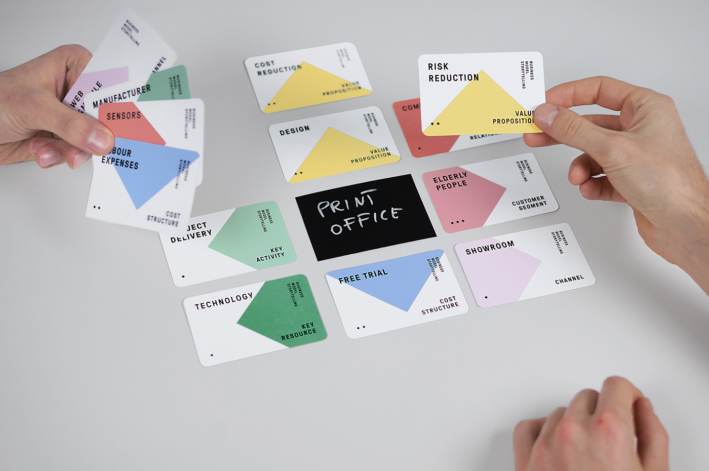 deck colorful cards card less typography   business learning