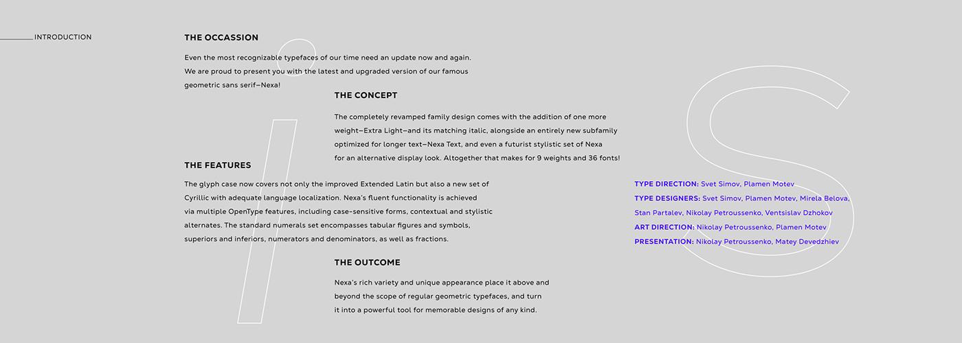 fontfabric nexa font Typeface Display text editorial Web sans serif sans