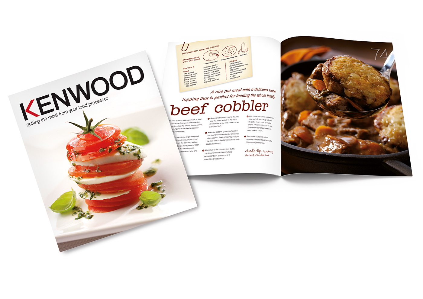 Food Book Cover Reviews : Kenwood food processor recipe book design on behance