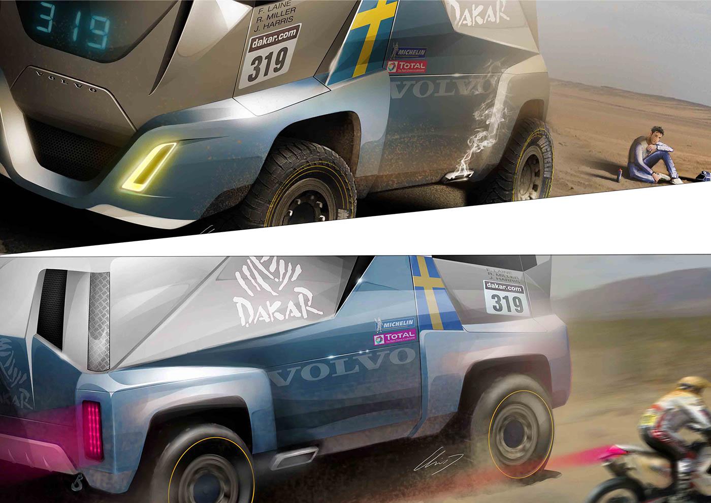 Volvo T4 Dakar Truck On Behance