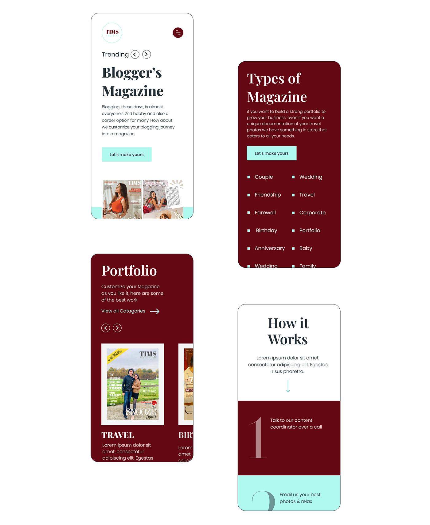 landing page lifestyle magazine minimal Travel UI ux Web Design  Website wedding