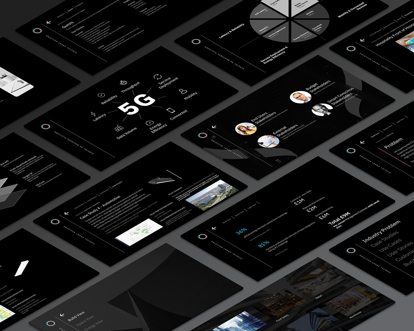 dashboard design IoT Singtel Website
