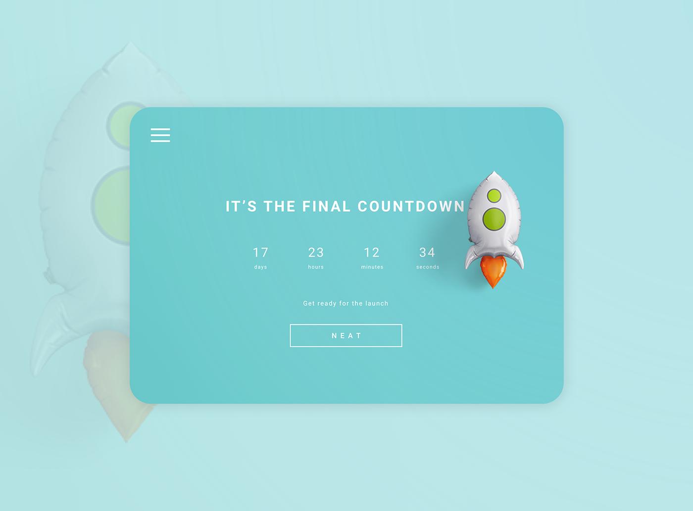 UI ux landing page design countdown Web Webdesign