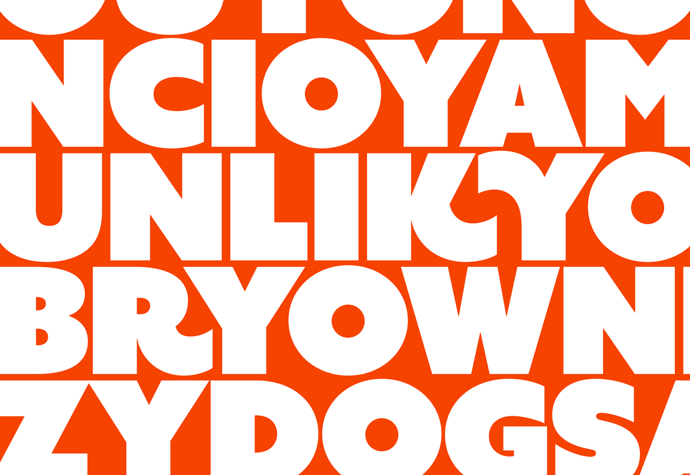 bold black Uber Heavy Display font Typeface Swashes