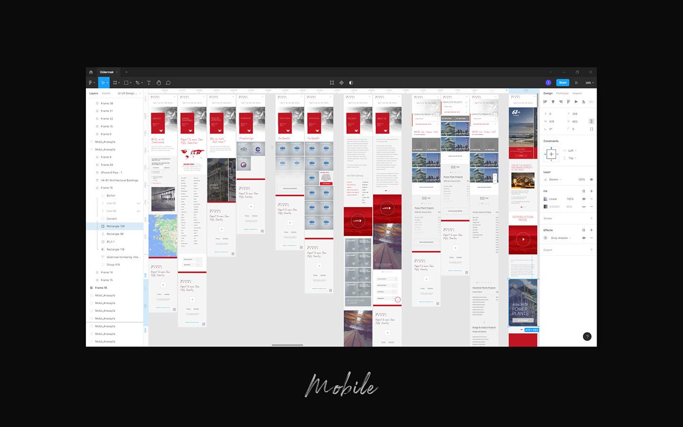 conceptıng front end ındustry UI desıgn uıux ux desıgn websıte