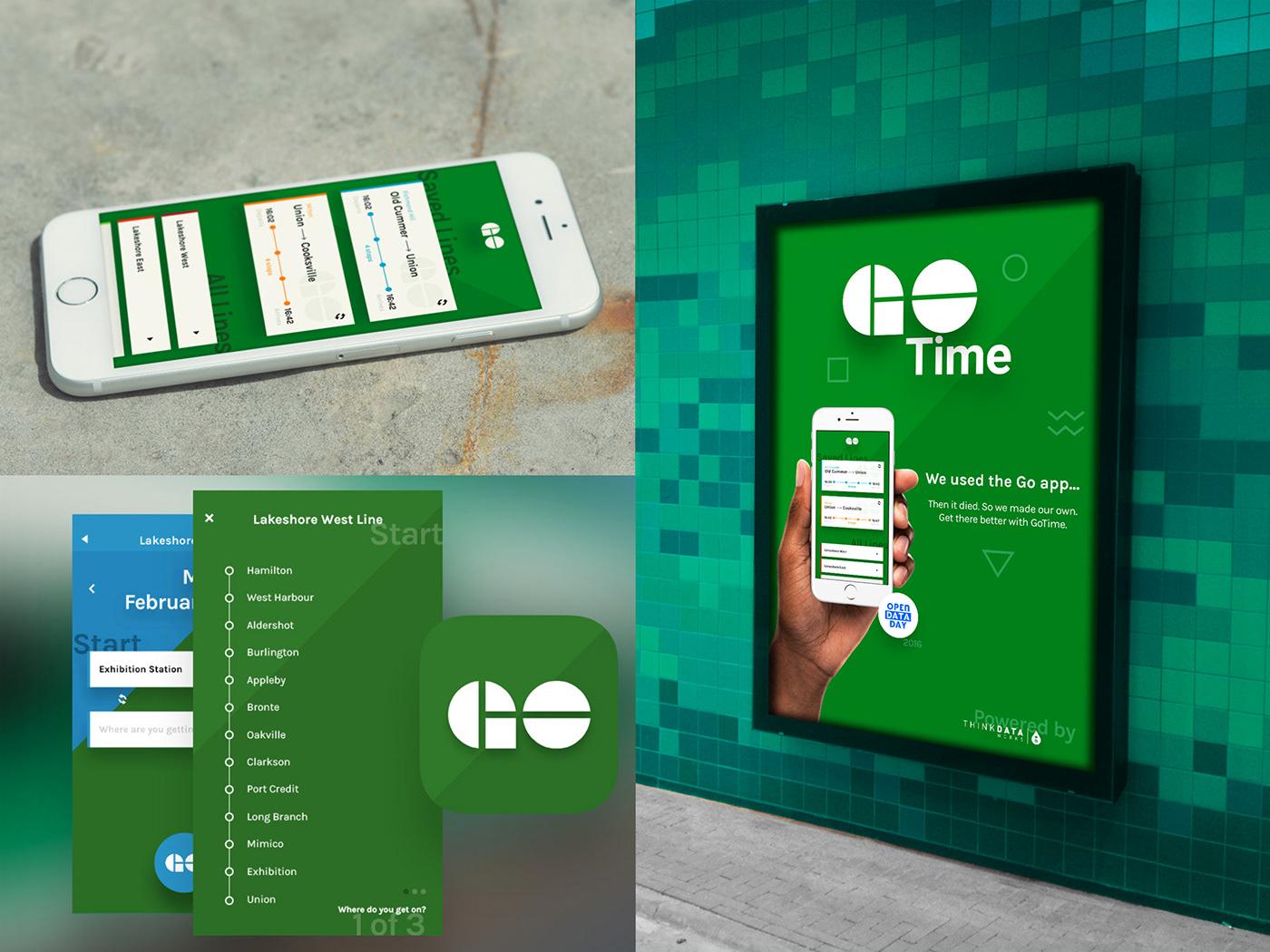 Advertising  app design go gotrain subway Toronto train Transit ttc