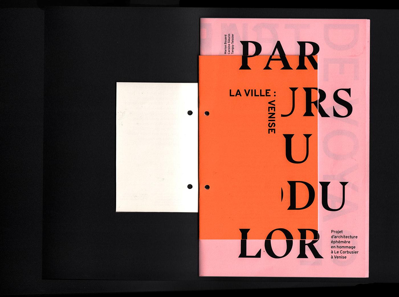 edition editorial design  book architecture Le Corbusier colours bluu next typography