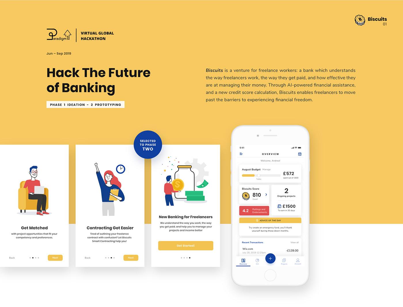 DBS paradigm shift hackathon future banking banking app freelancer Freelance money app banking financial management freelance app