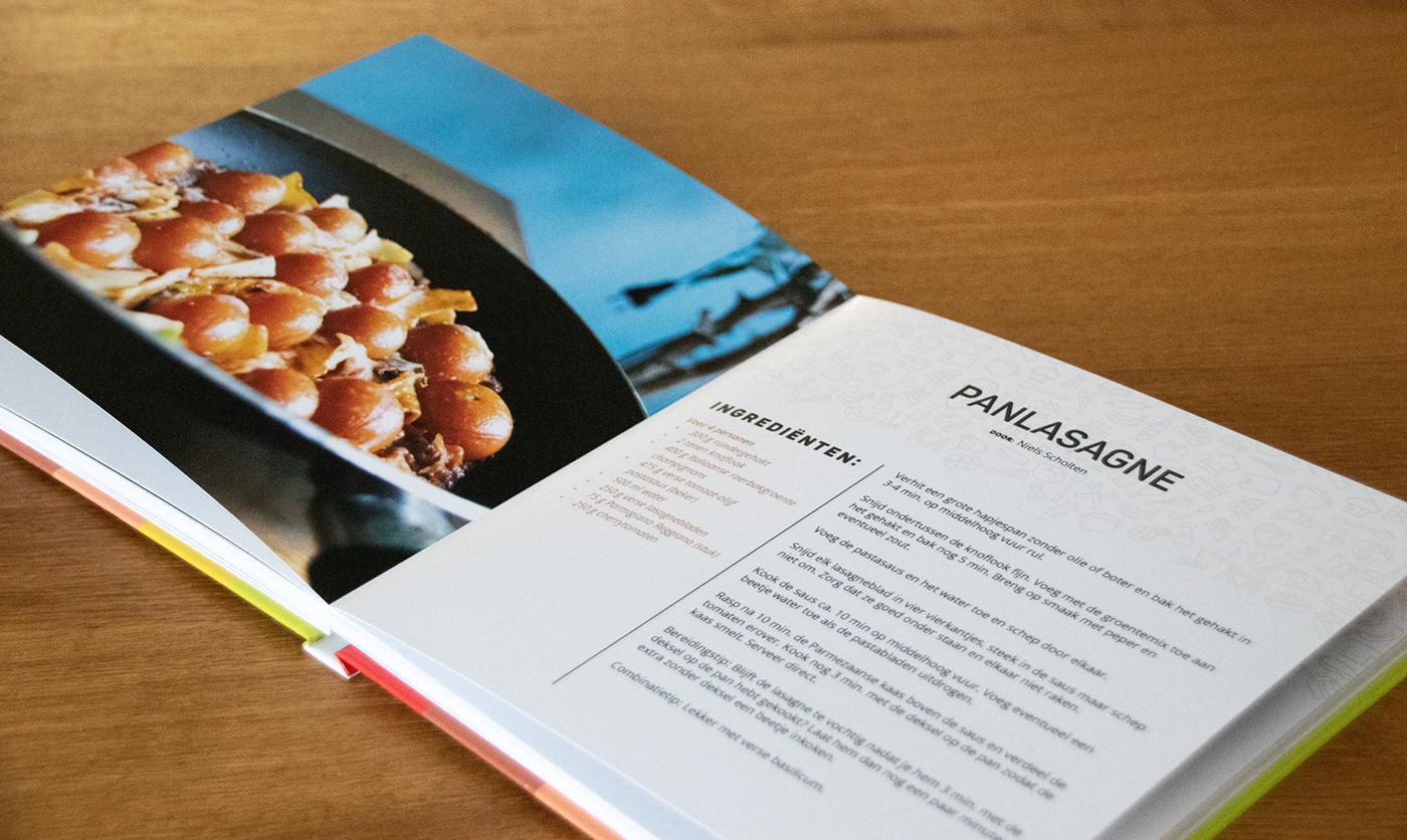 cookbook design book present graphic design  online form UI/UX Photography  Food  book design