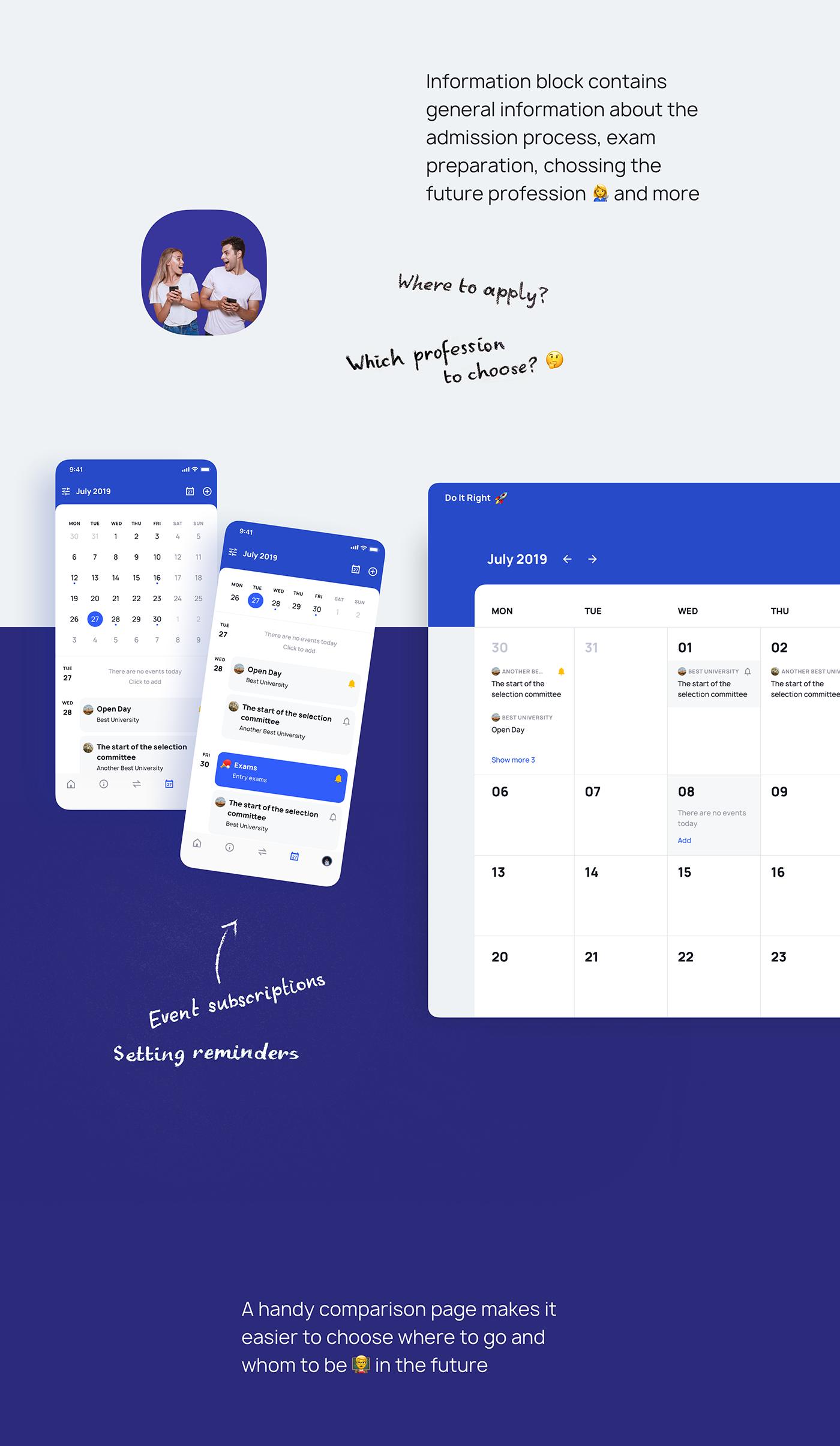 UI ux Interface app Education service calculator calendar student Emoji