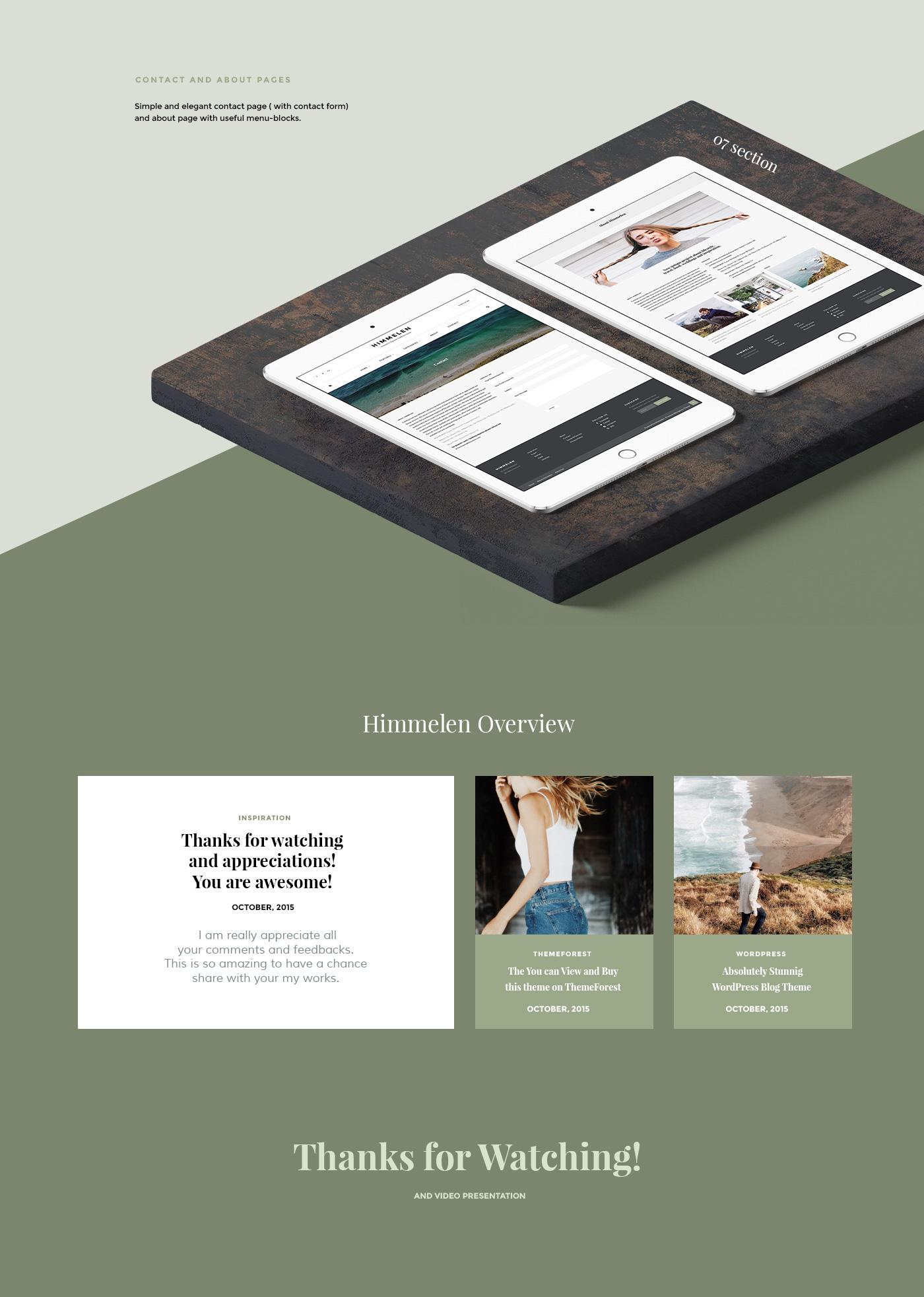 Web design themeforest Blog wordpress mimimal magazine Travel