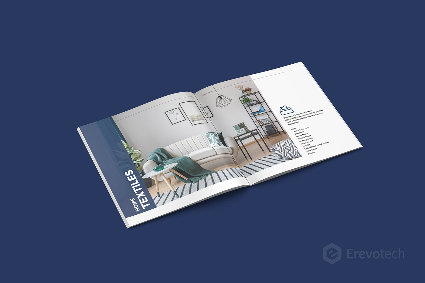 home textile brochure design