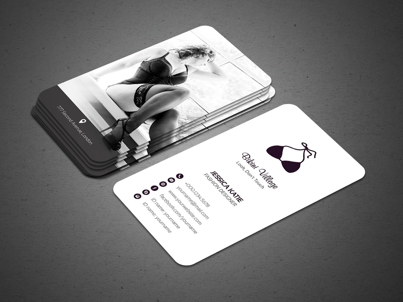 Lingerie Business Cards 104