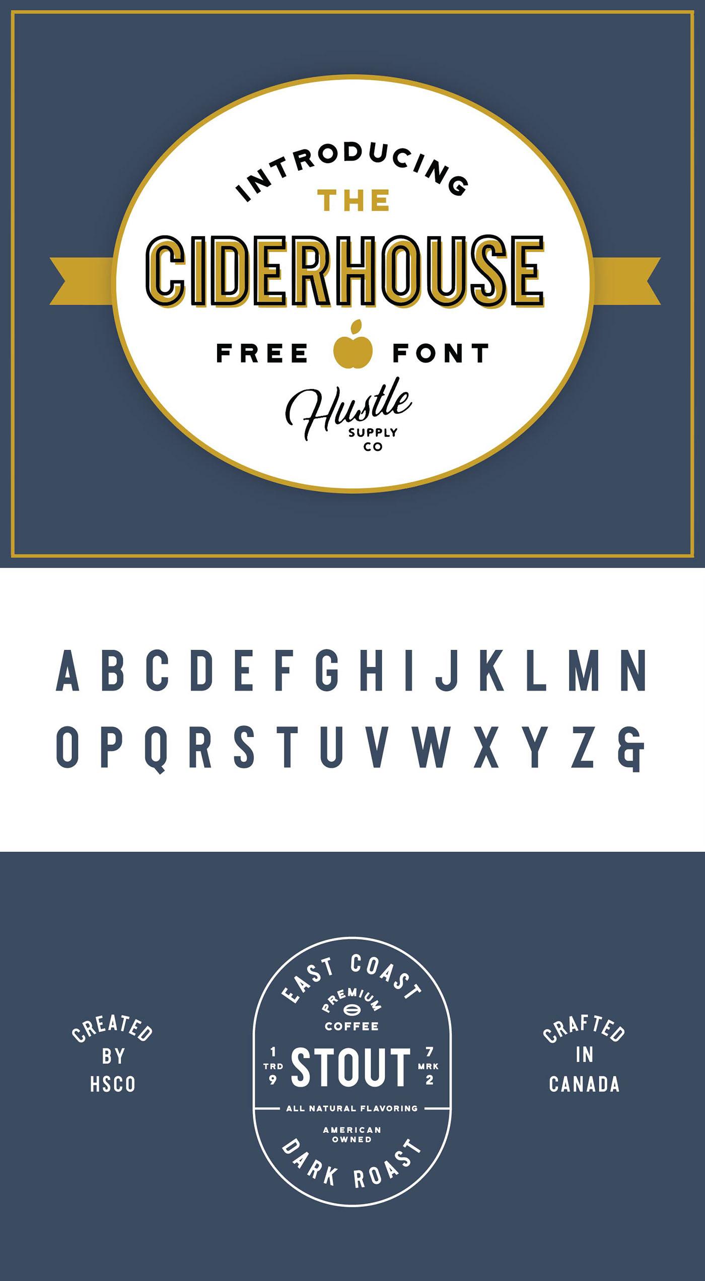 vintage Whiskey cider font Free font free typeface freebie sans serif branding