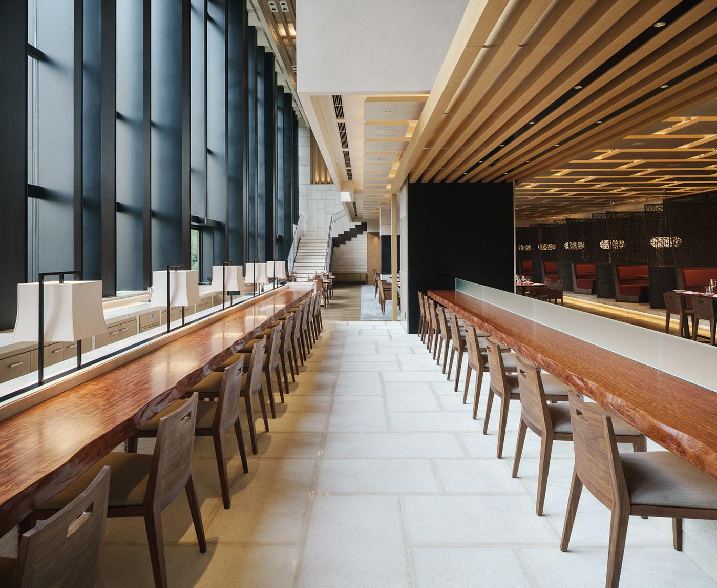Brasserie in four seasons hotel kyoto kokaistudios on for Design hotel kyoto