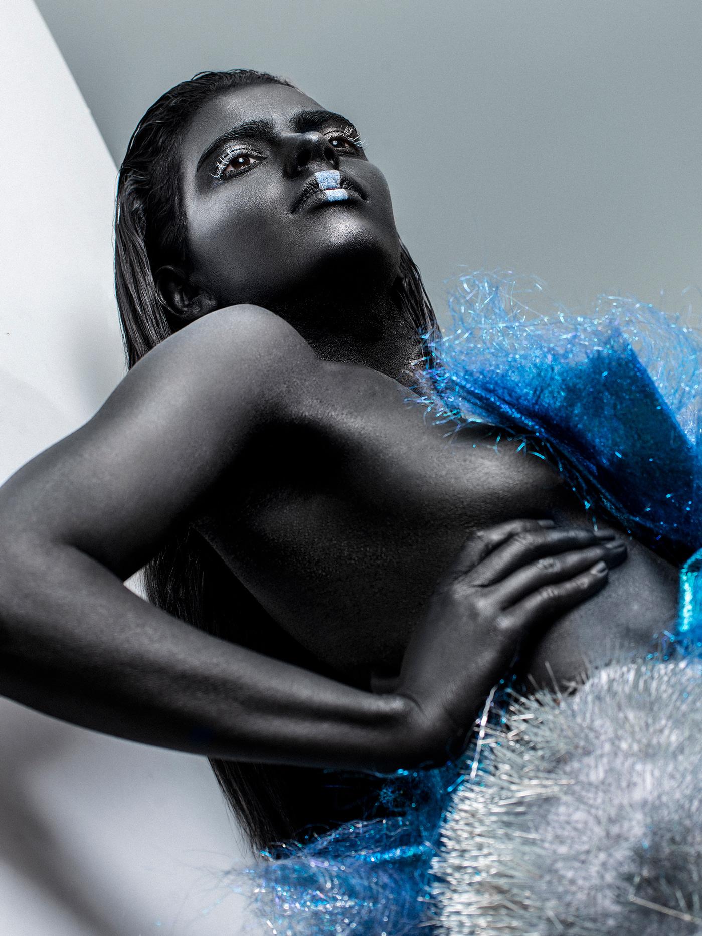 Fashion  Style editorial Photography  dark profoto Elinchrom studio makeup design