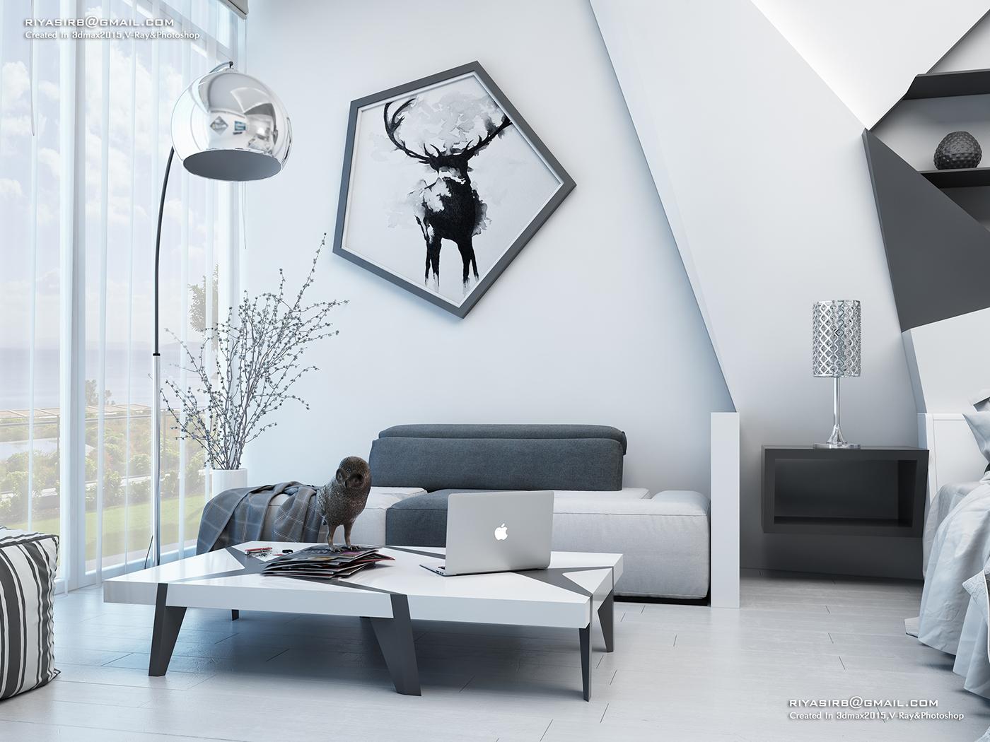 Futuristic Bedroom Design On Behance