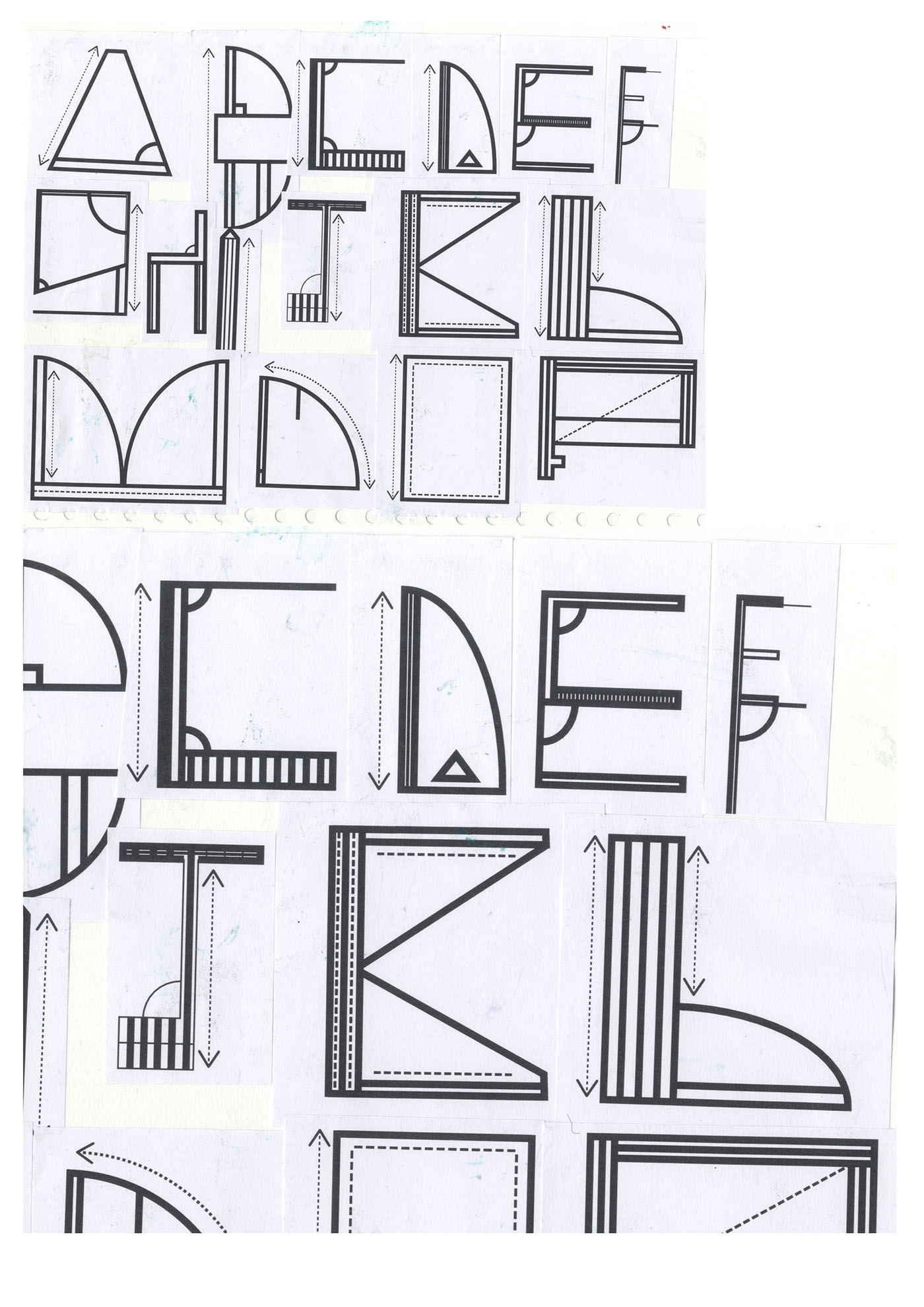 Architecture typeface on behance of building which i found appealing and from those pictures i traced over parts of the image and manipulated the font to make it look like a blueprint malvernweather Gallery