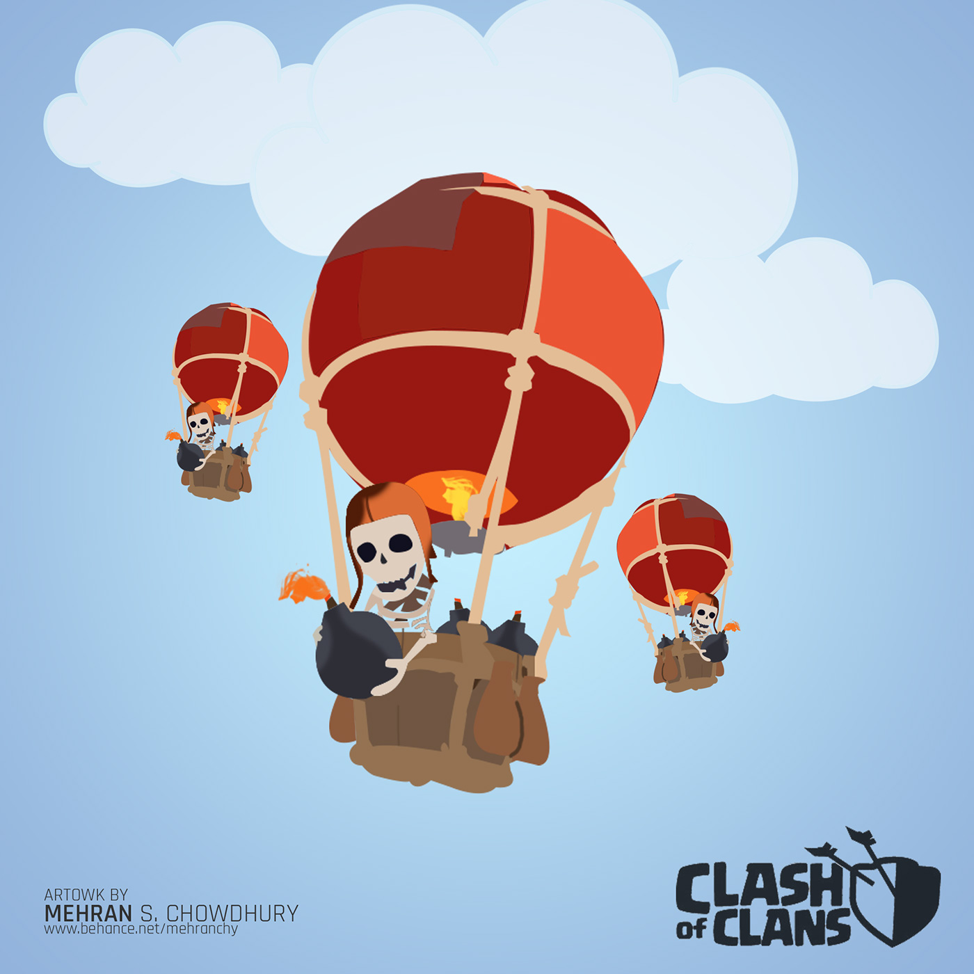 Clash Of Clans Vector Art On Behance