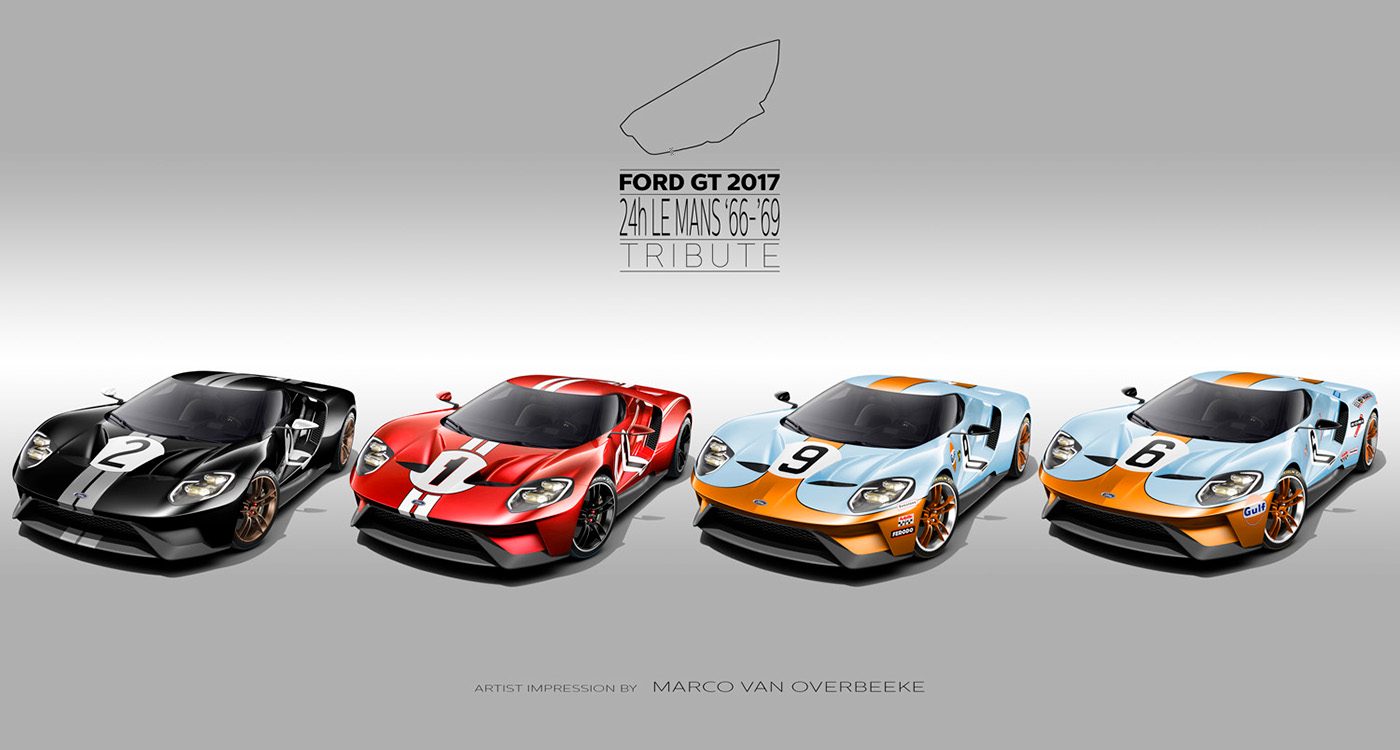 Ford GT40 gt LeMans 24h tribute Livery race Victory gulf