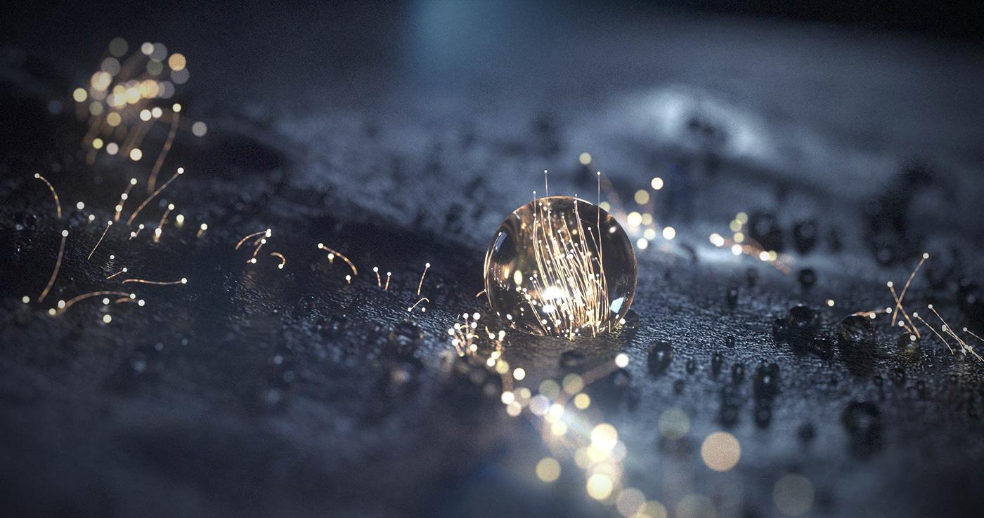 motion graphics  3D organic particles branding  xp x-particles octane cinema 4d c4d