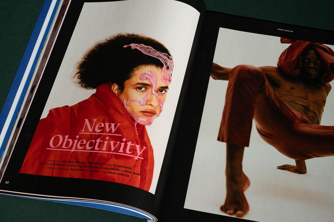 editorial design graphic ArtDirection magazine Fashion  printed issue