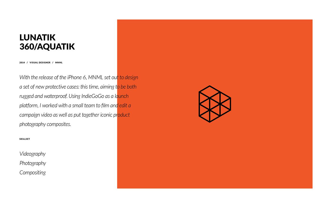 LunaTik taktik water waterproof iphone case Composite Packaging mnml