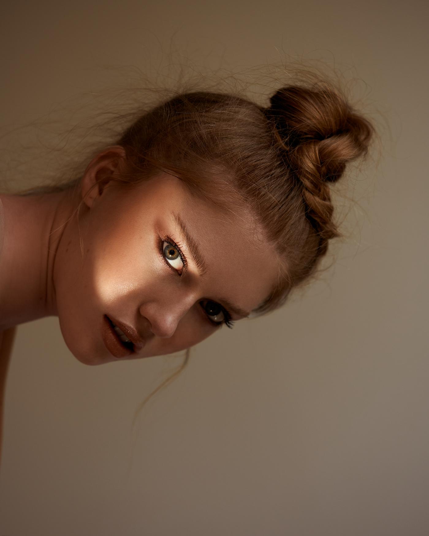 editorial Fashion  hair makeup model naturallight Photography  photoshoot studio woman