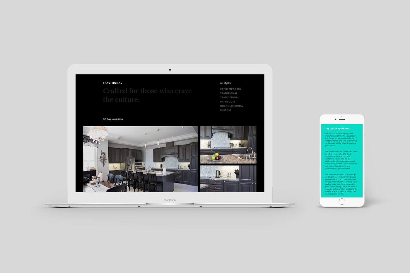 Micasa Kitchens branding & website on Behance