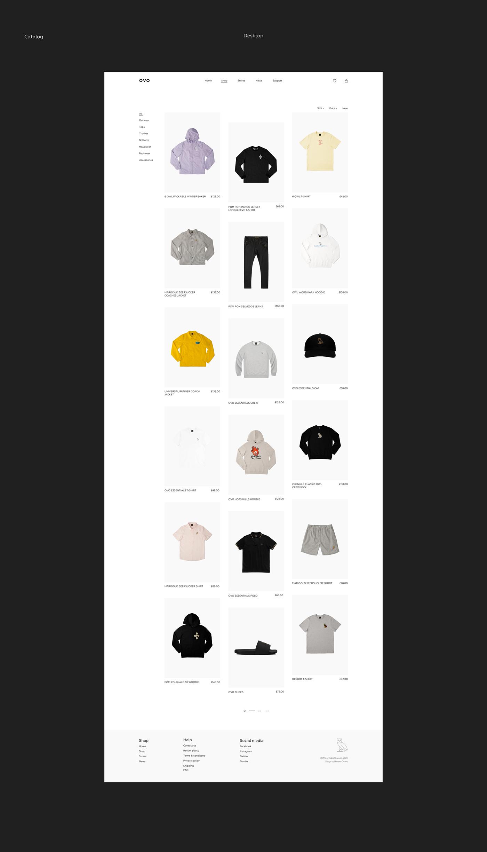 Drake online store ovo redesign store ui design uxdesign Webdesign Website