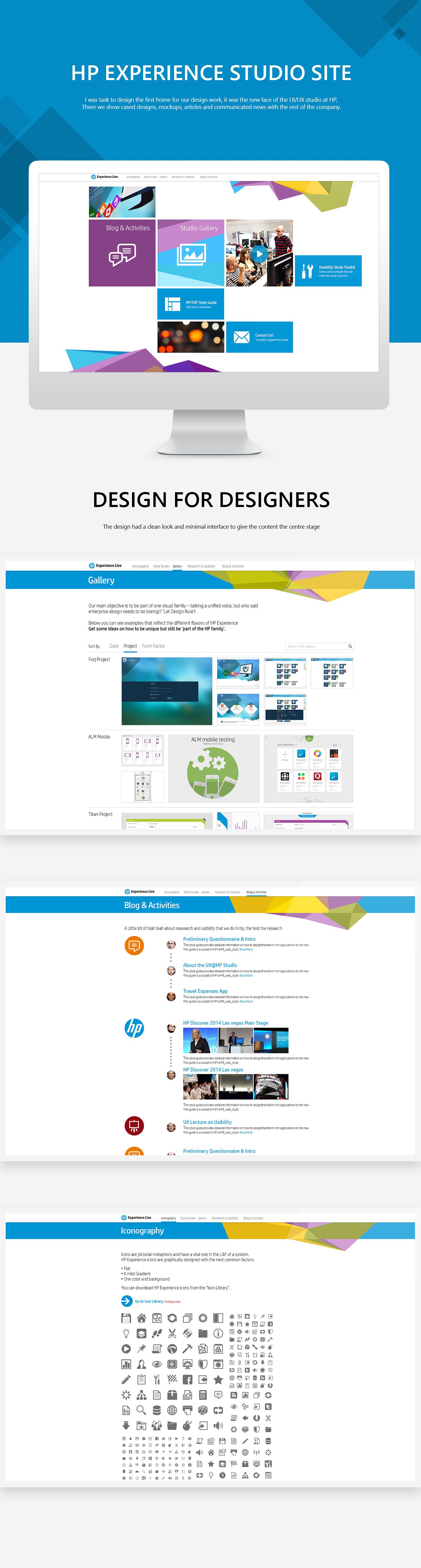 ux UI design Web homepage
