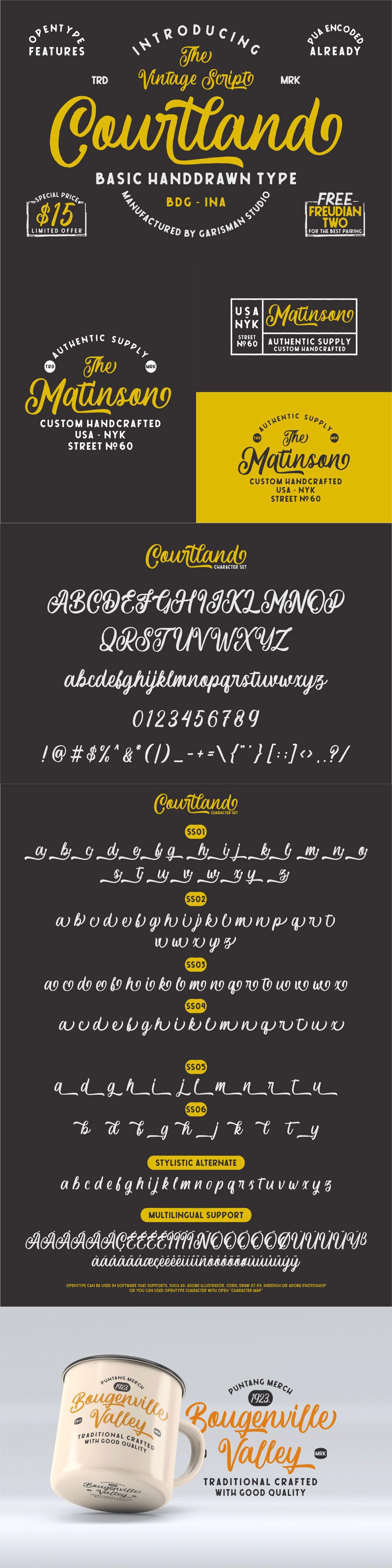 Шрифт – Courtland