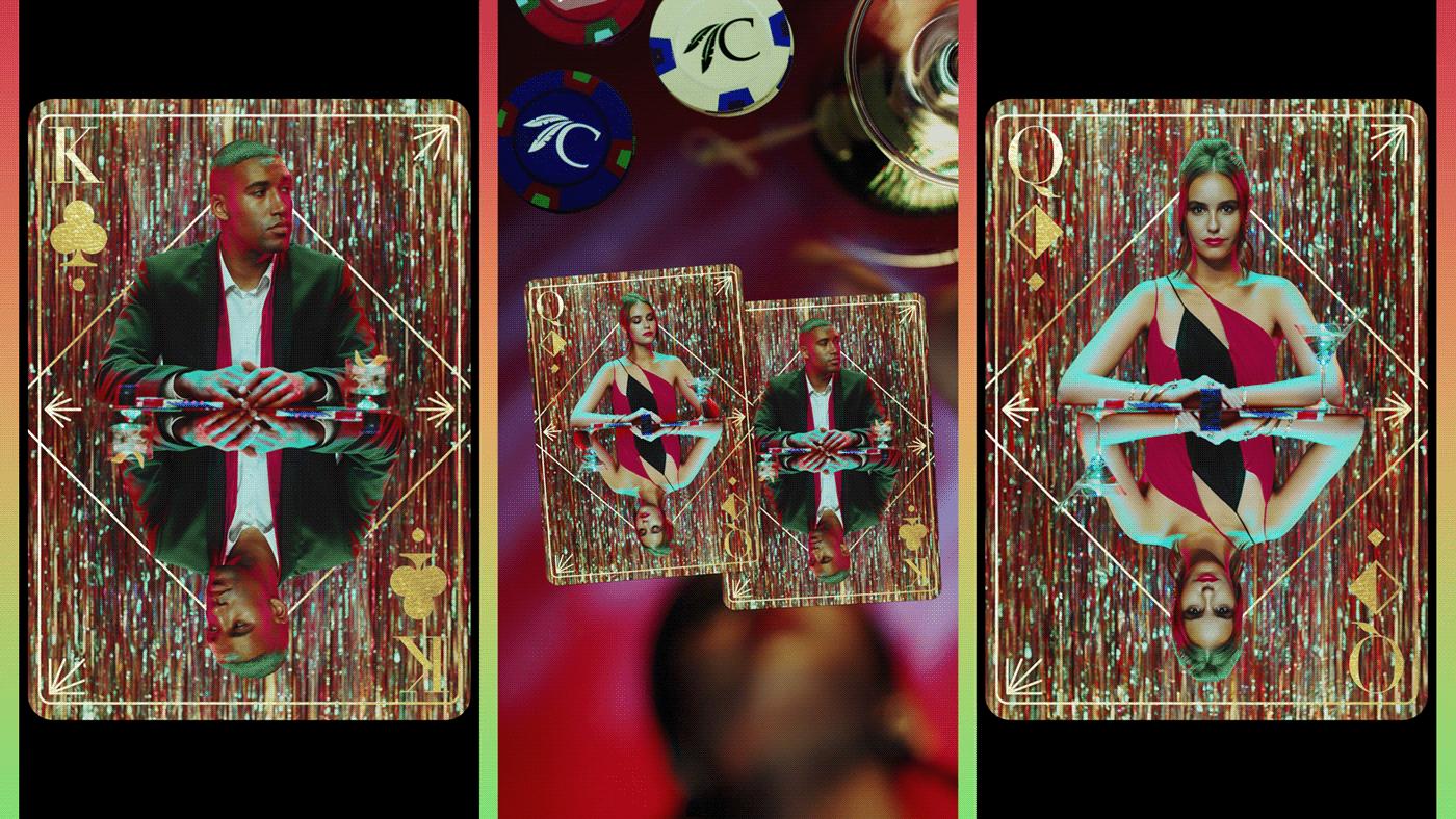 art direction  casino CG CGI cinematography commercial Fashion  loop motion design motion graphics