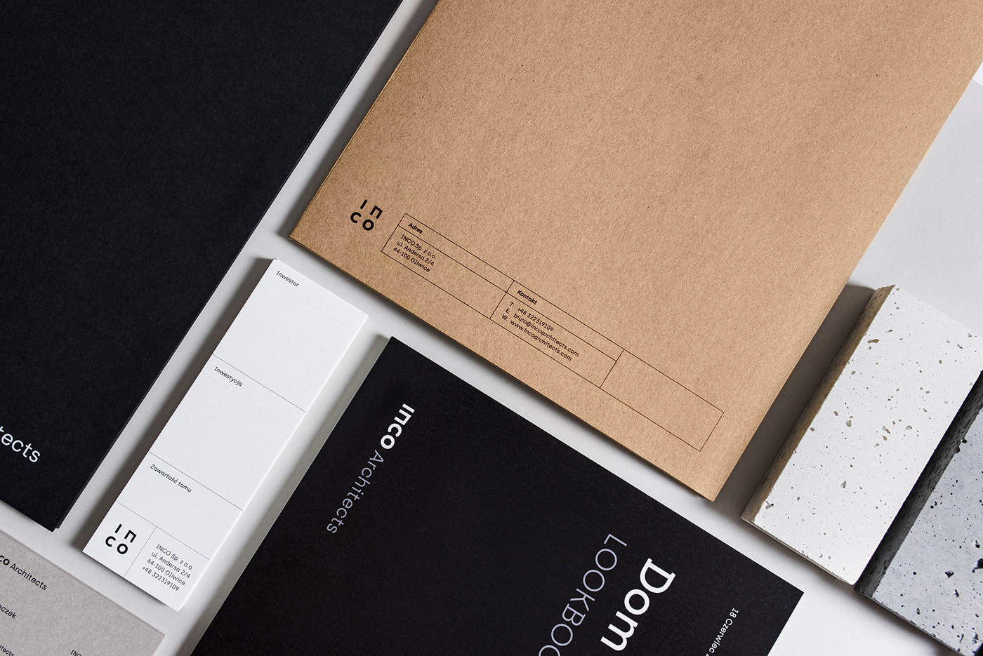 branding  poland minimal simple architect logo architecture concrete print gray
