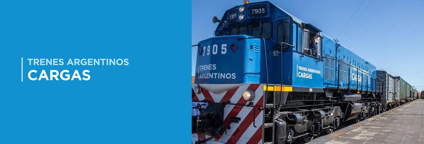 trenes train Argentinos cargas charge argentina Ministerio de transporte