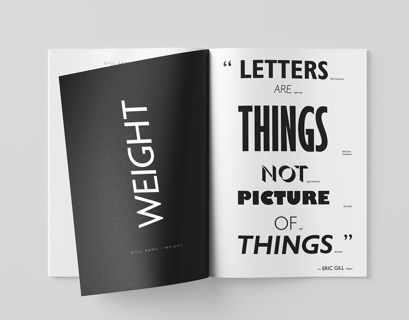 Gill Sans Type Specimen Book on Behance