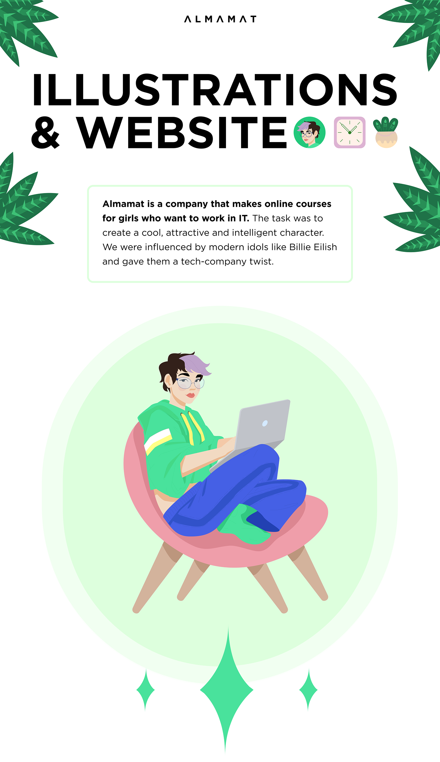Website ILLUSTRATION  landing page IT Startup Character Web embacy