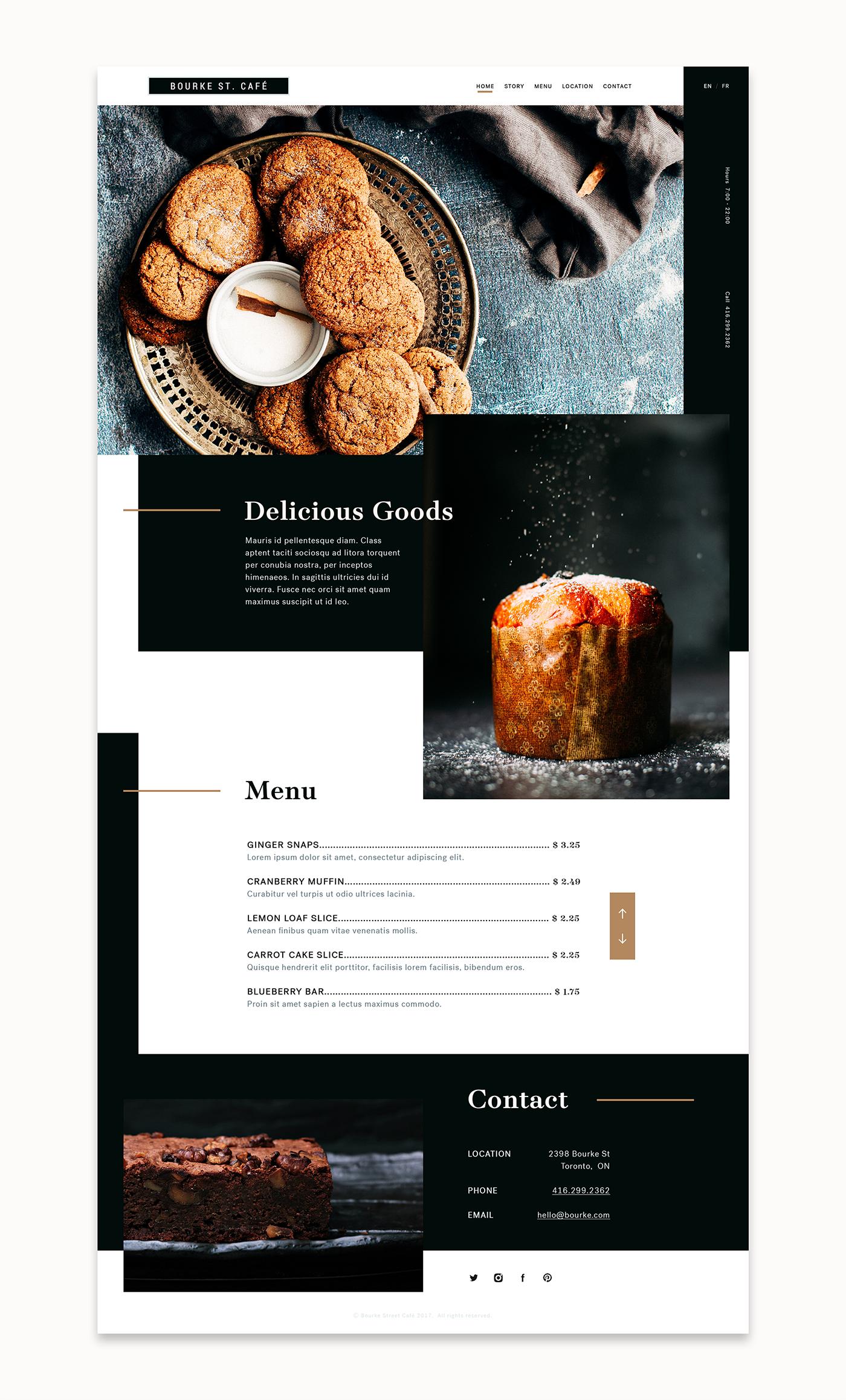 Website Web Design  Website Design design typography   landing simple cafe bakery