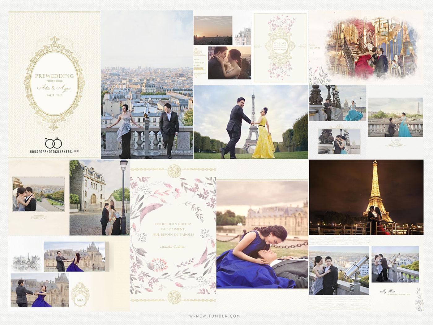 Prewedding Photobook Design, photo by HOP on Behance