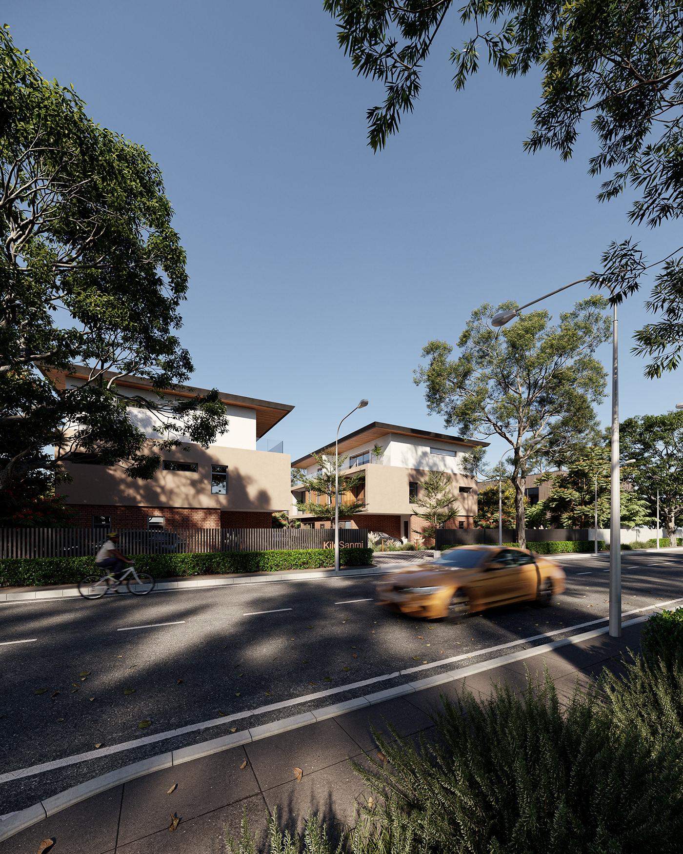 3D architecture archviz CGI corona house Photography  Render Renderings vray