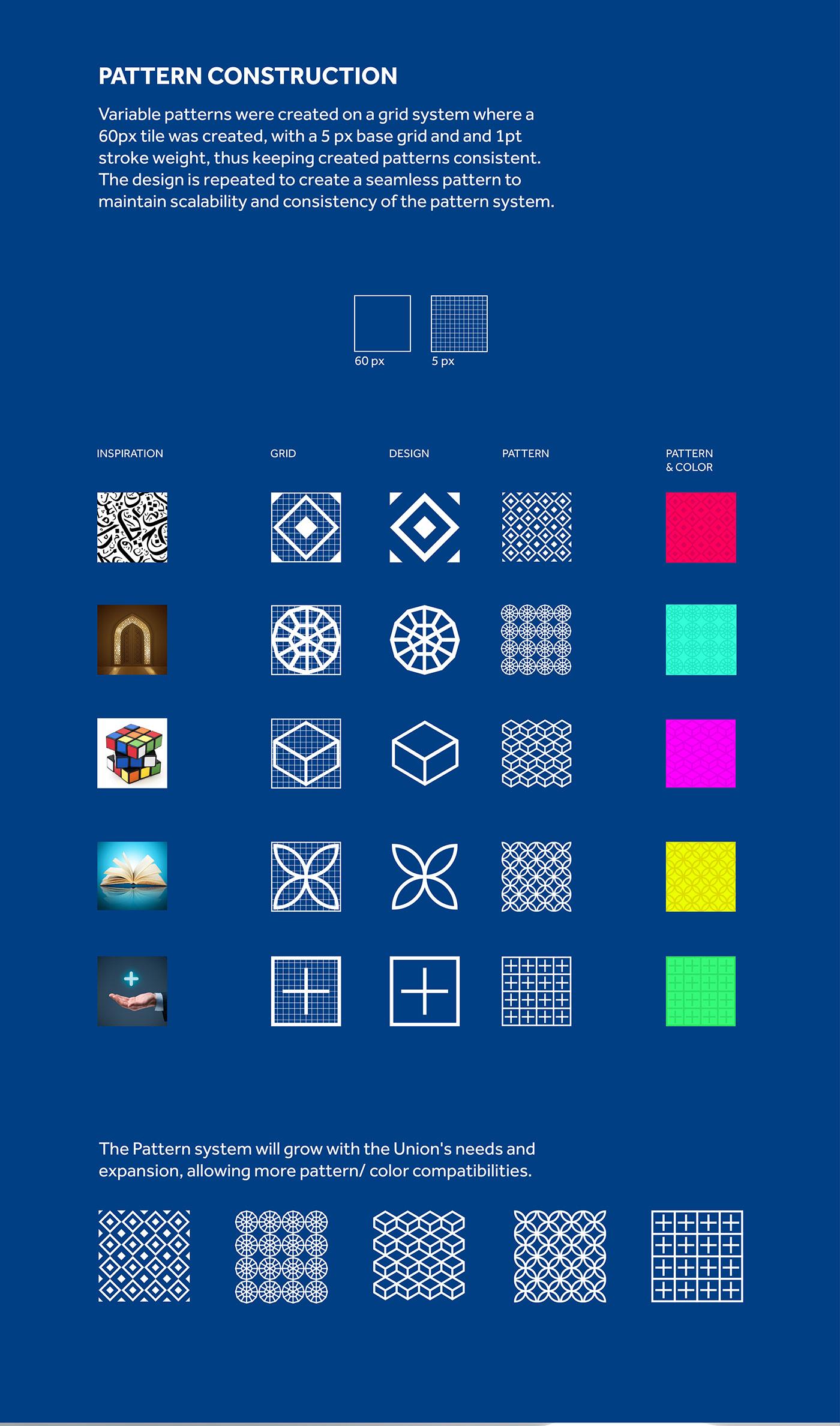 design Dynamic identity color Letter U ltter d Space  union designers du