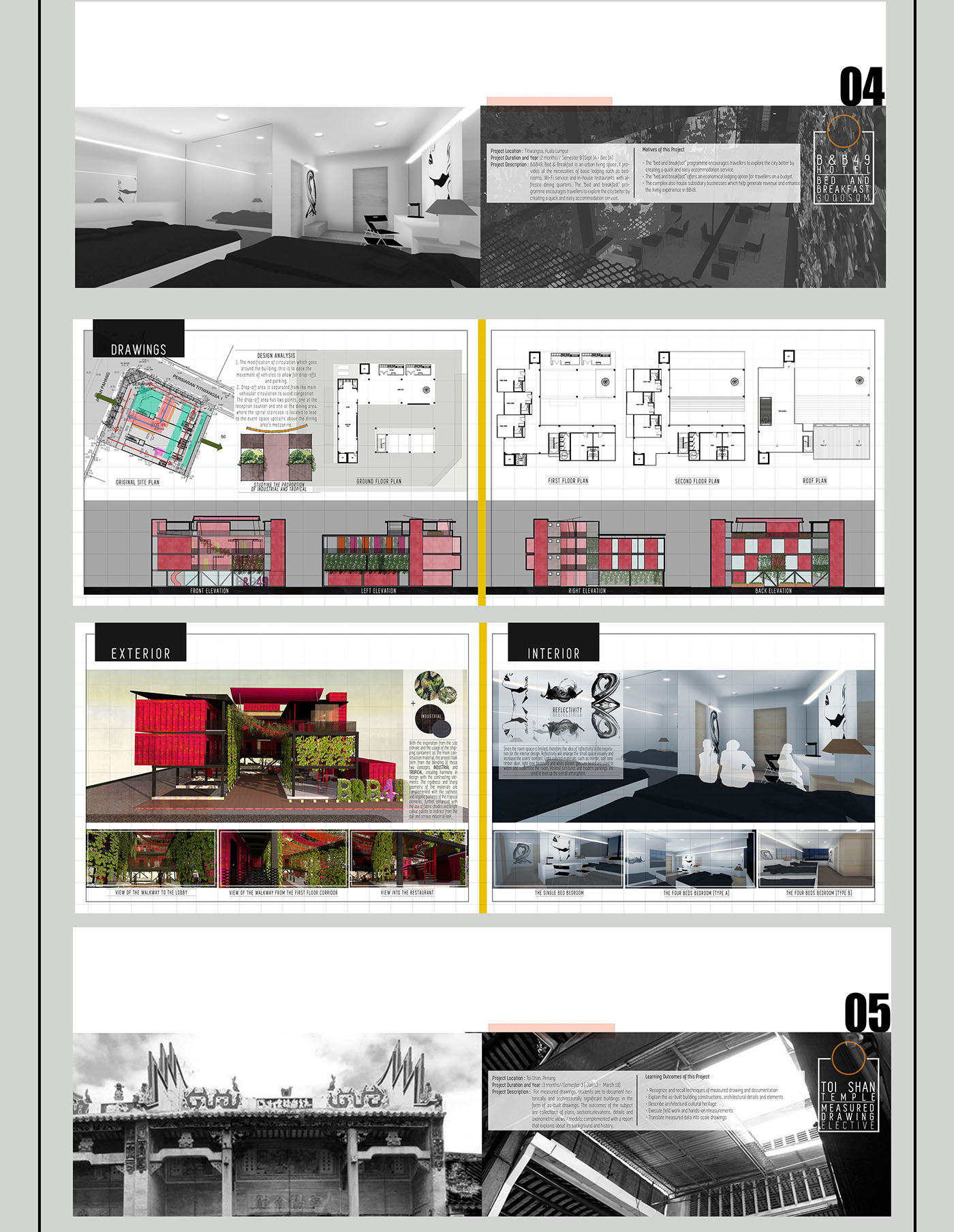 11 behance end of year undergraduate portfolio on behance for Architecture portfolio