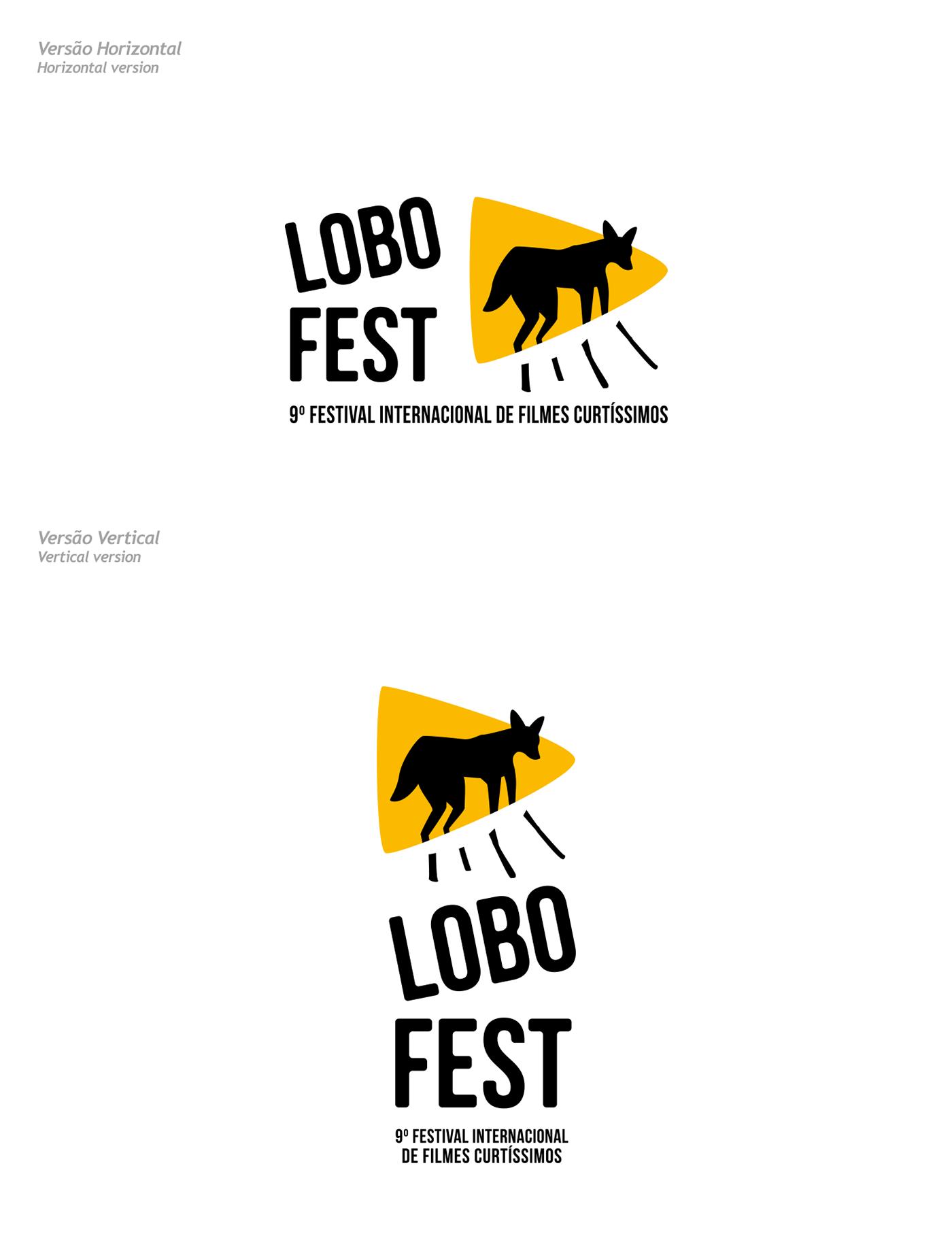 lobofest festival curtas Filmes animações Cinema Lobo brasilia logo branding