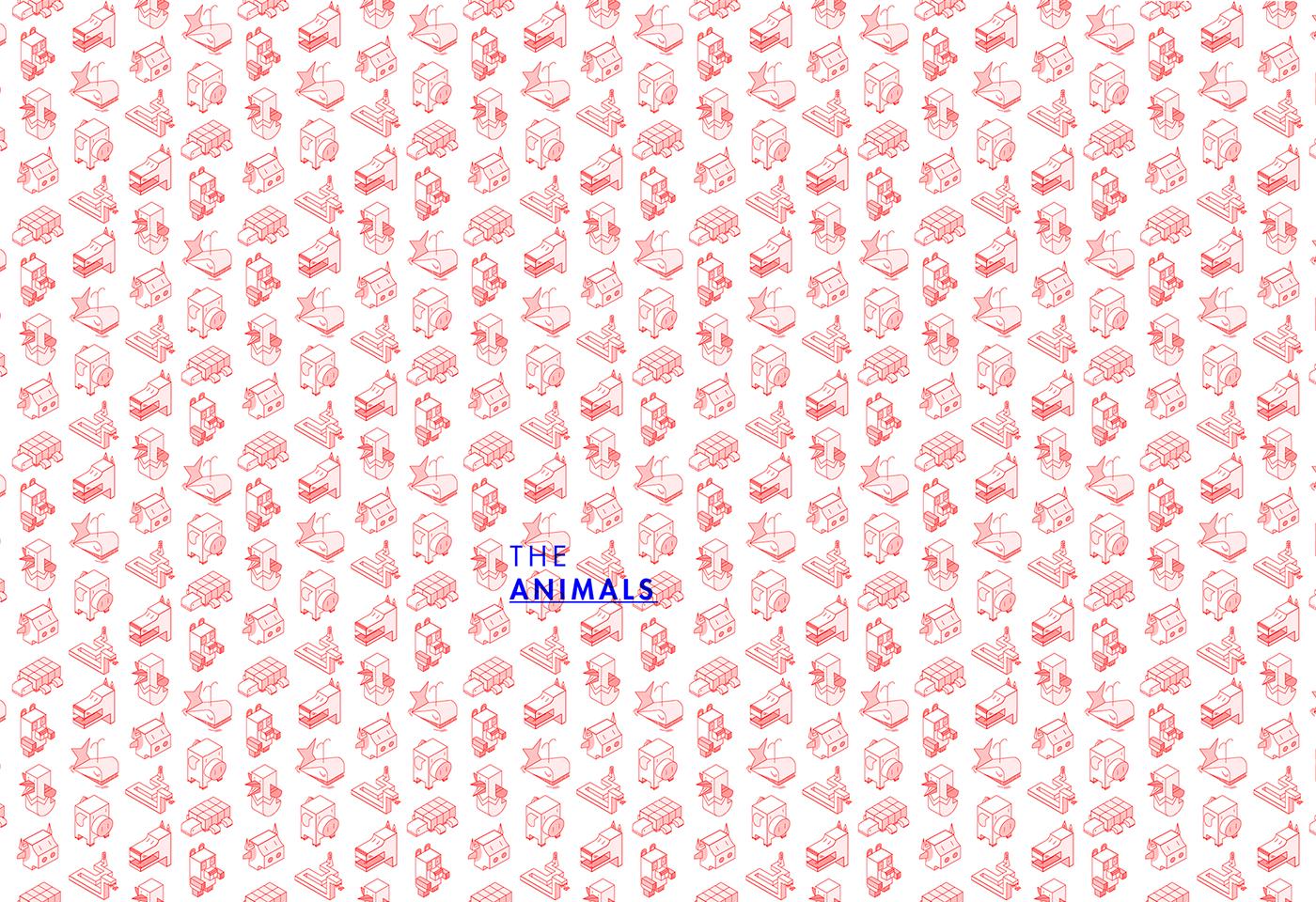 polygonal animals geometry Isometric ILLUSTRATION