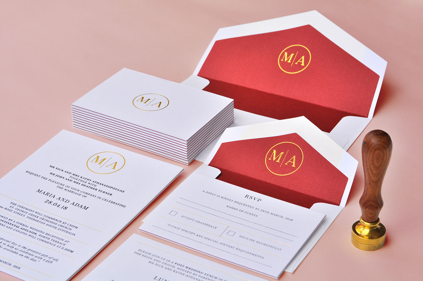 Triplex Laminated Letterpress Luxurious Wedding Set on Behance