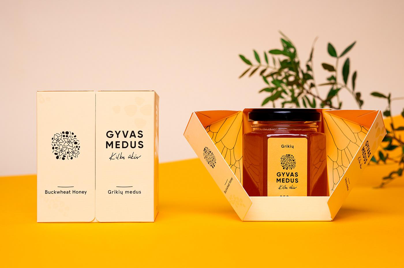 branding  dieline graphicdesign honeypackage Honeypackaging Lithuanianpackaging pacaging package packagedesign packagingdesign