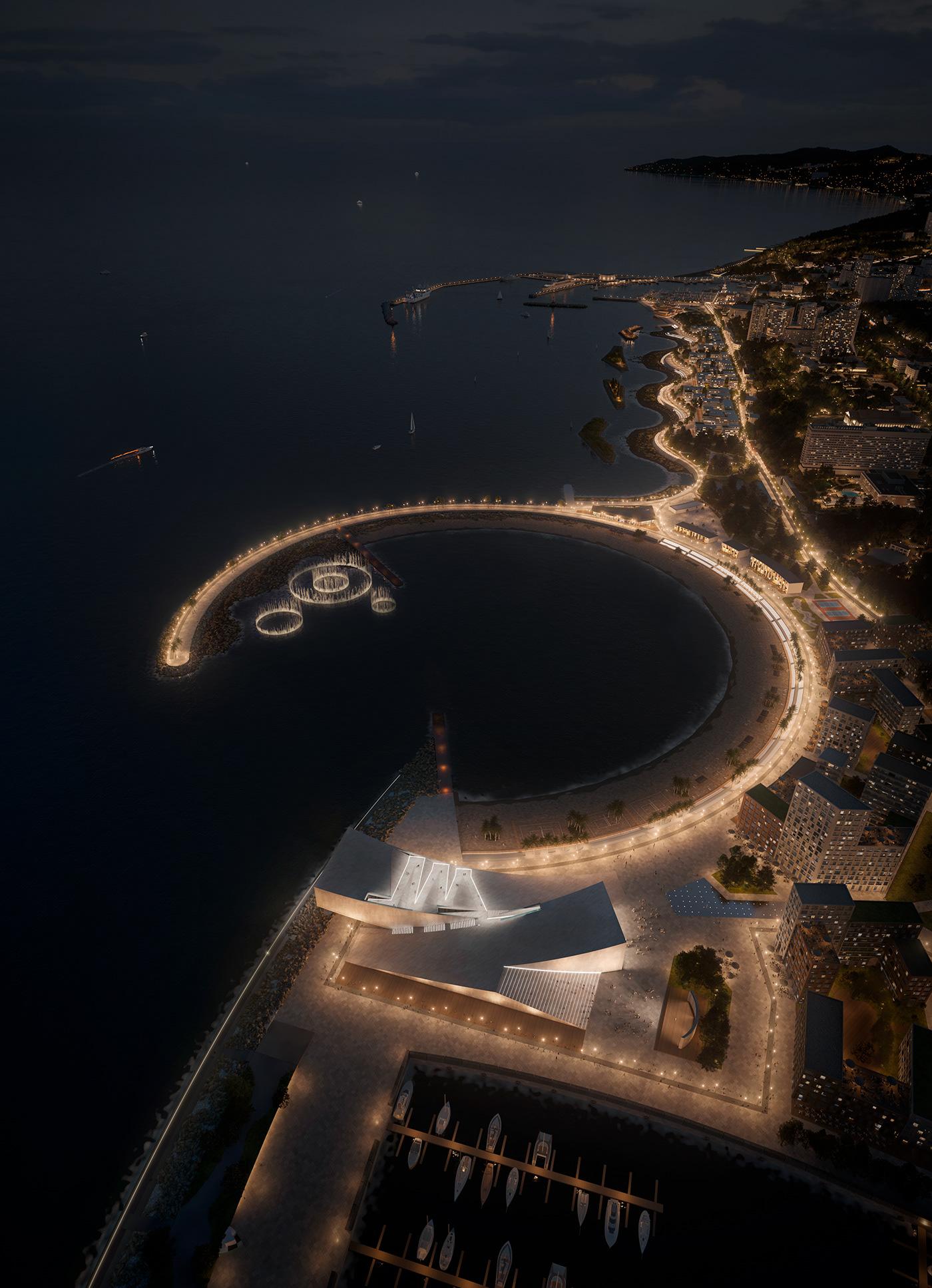 architecture Embankment Landscape Masterplan masterplanning