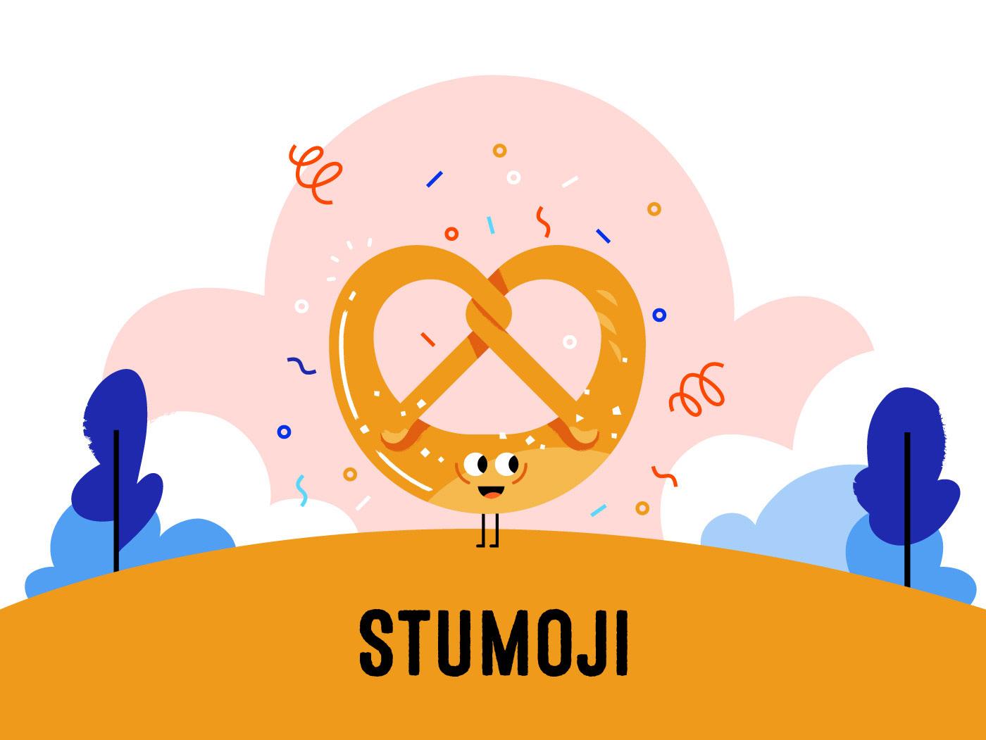Emoji app stumoji stuttgart germany UI sticker culture Food  pretzel