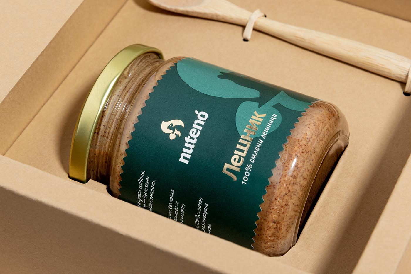 FoodProduct jar labels logo natural nuts Pack Packaging organic