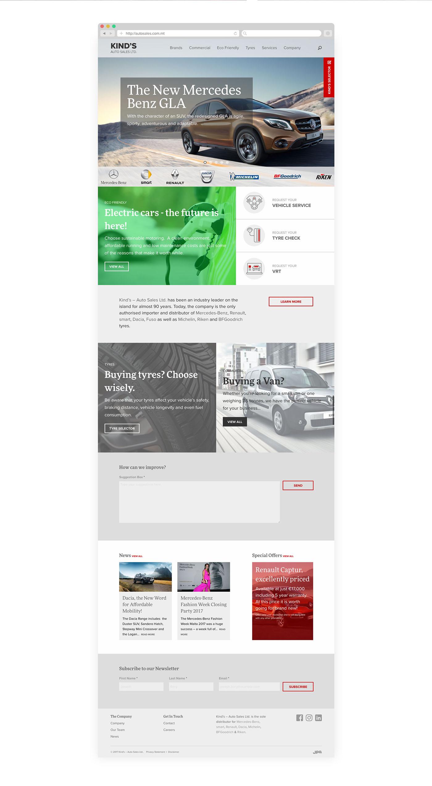 ux UI Web Design  web development  malta mercedes renault Responsive Adaptive